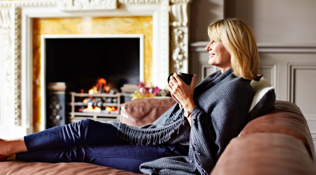 Relaxed woman who took out a remortgage