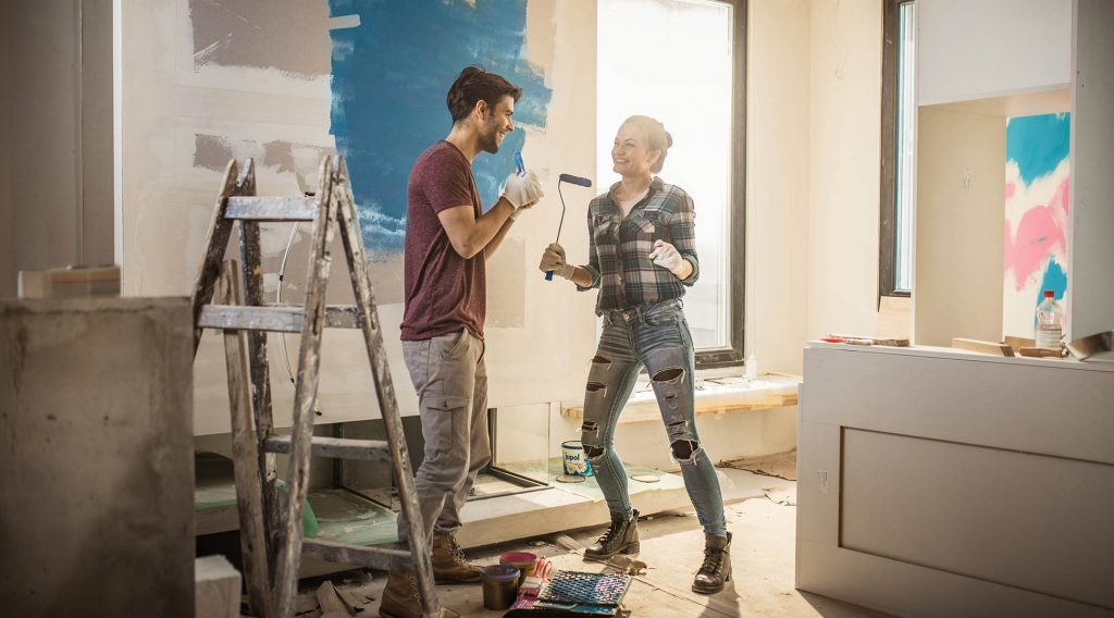 Couple who got a secured loan for renovating