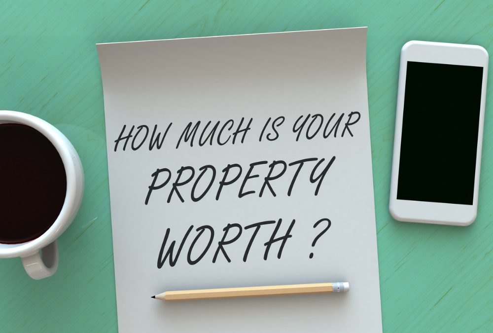 How much is your property worth message on paper